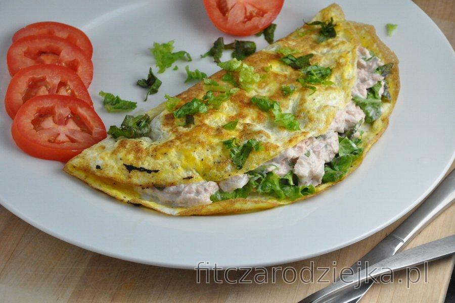 Najlepszy fit omlet z tuńczykiem