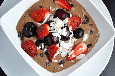Zdrowe lody kakaowe (bezglutenowe, bezcukrowe)