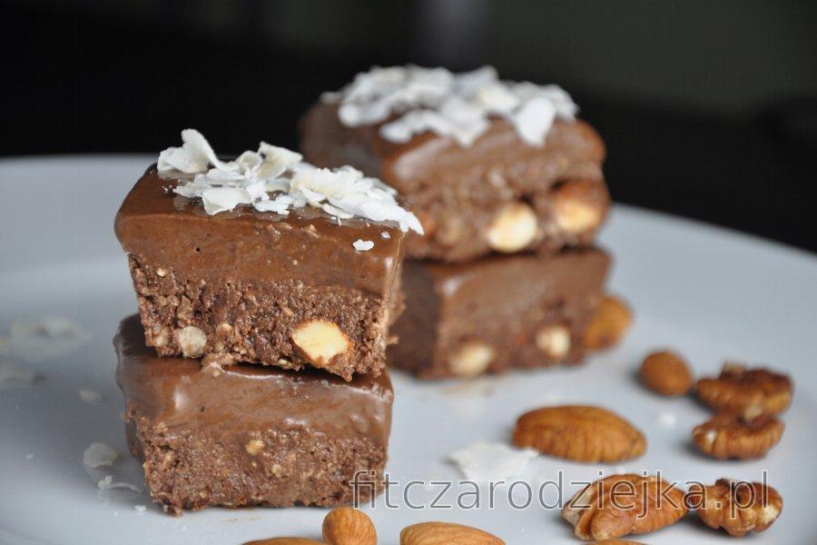 Kakaowe kwadraciki bez pieczenia (bezglutenowe)