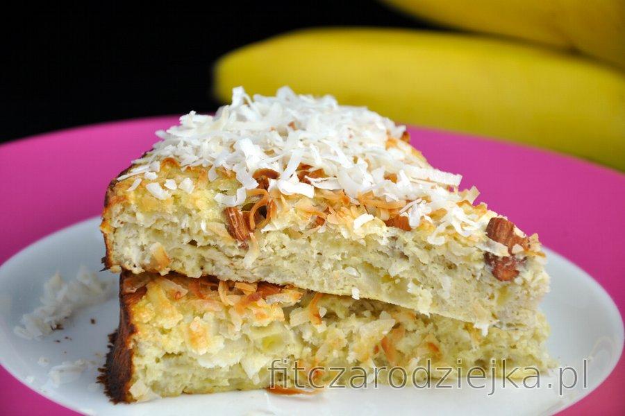 Zdrowe ciasto kokosowo-bananowe (bezcukrowe, bezglutenowe)