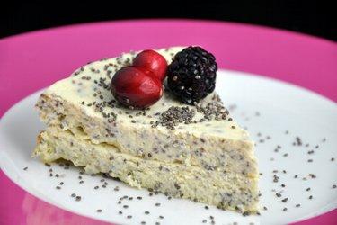 Ciasto z serka wiejskiego z makiem lub nasionami chia (bezglutenowe)