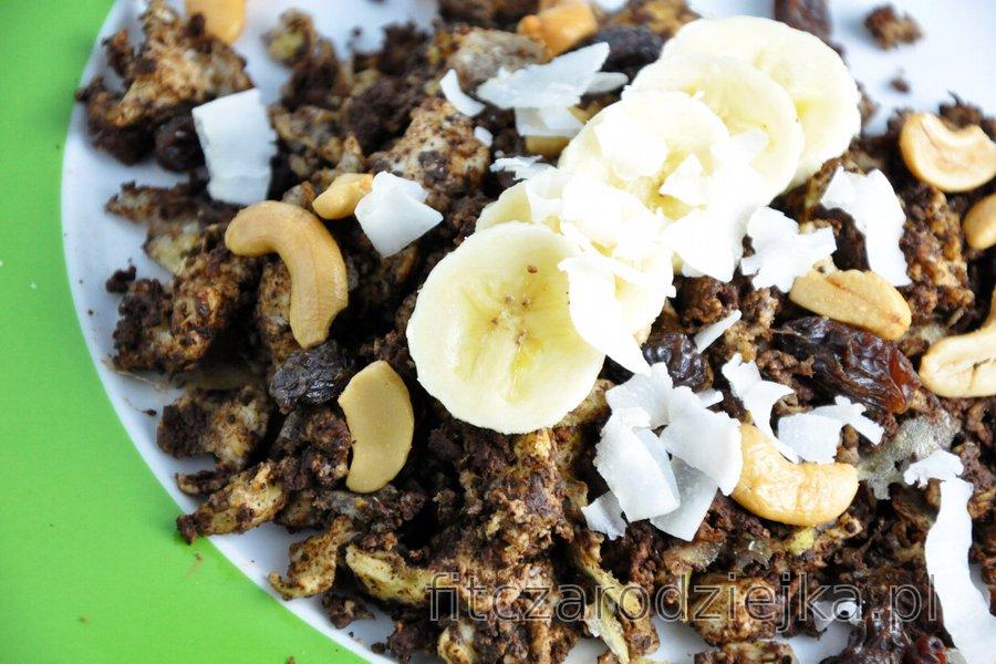 Jajecznica bananowo-kakaowa