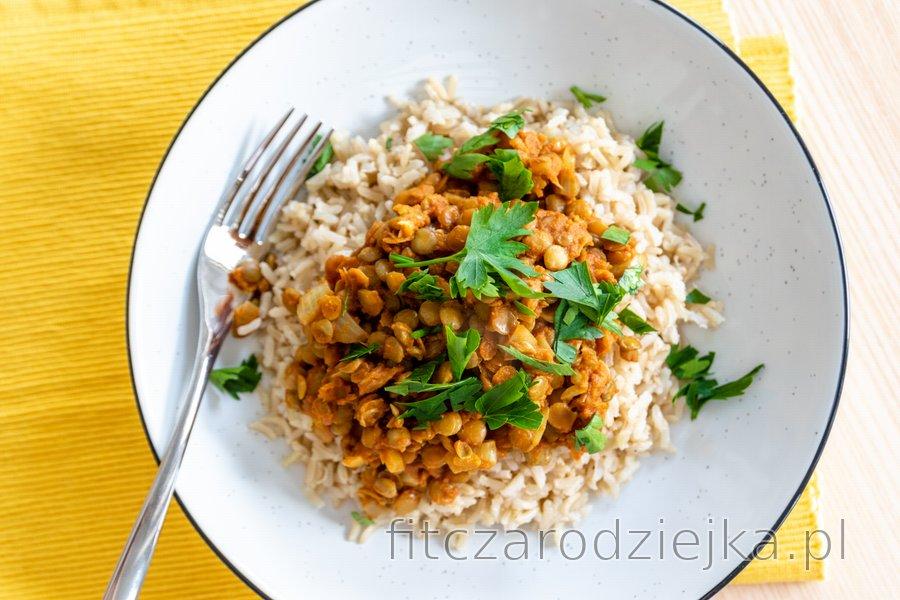 Proste indyjskie curry z soczewicy