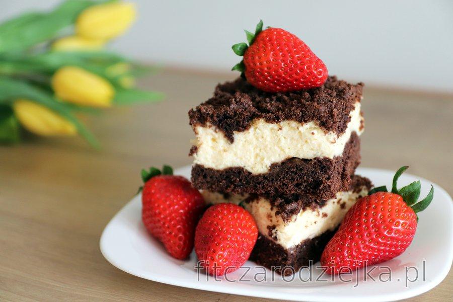 Dietetyczne ciasto tarte z twarogiem