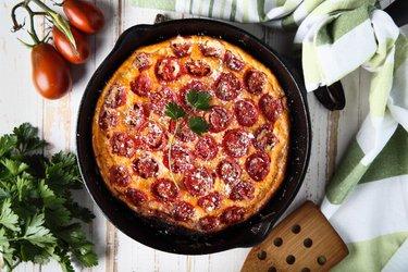 Niskowęglowodanowa frittata z pomidorami