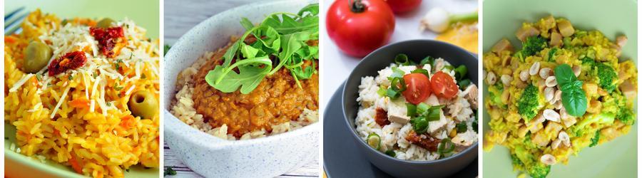 Zdrowe przepisy na obiad i lunch z ryżem