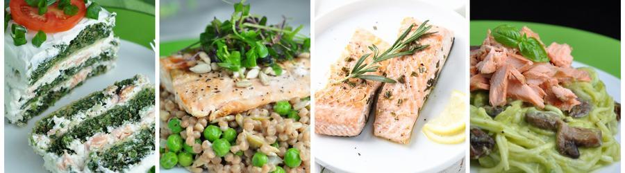 Zdrowe przepisy na obiad i lunch z łososiem