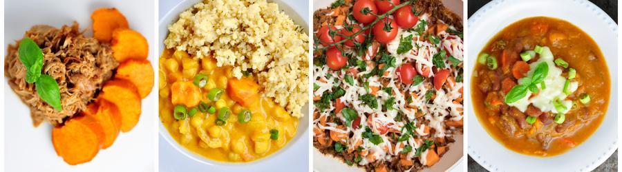 Zdrowe przepisy z batatami na obiad i lunch