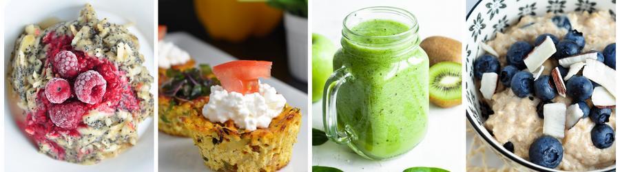 Niskokaloryczne przepisy na śniadanie i utratę wagi