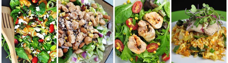 Zdrowe przepisy na sałatki z kurczakiem