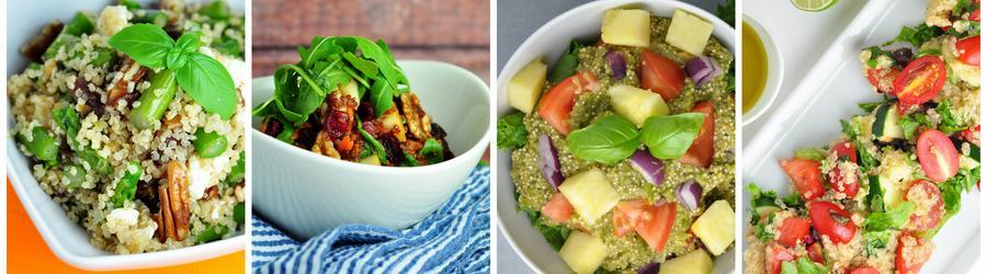 Zdrowe przepisy na sałatki z komosą ryżową